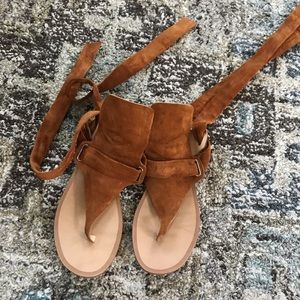 rag & bone tan leather sandals